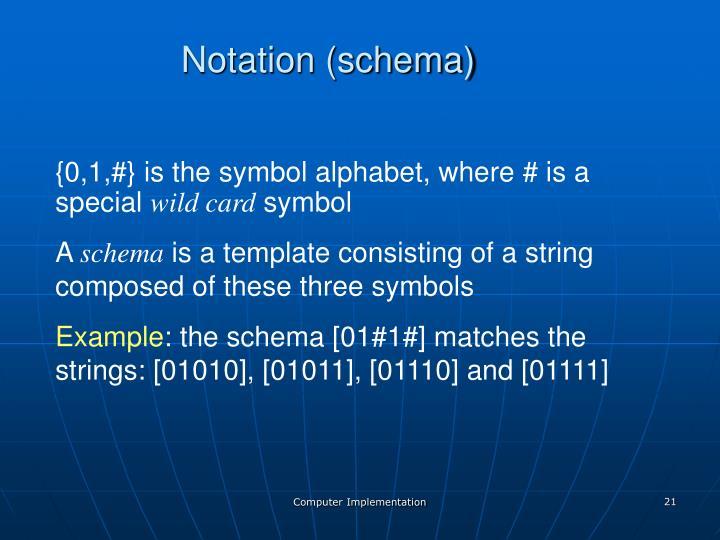 Notation (schema)