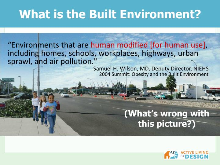 What is the built environment