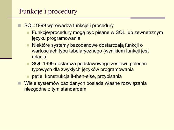 Funkcje i procedury