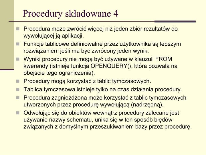 Procedury składowane 4