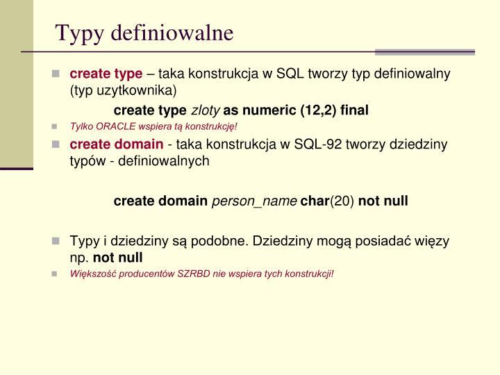 Typy definiowalne