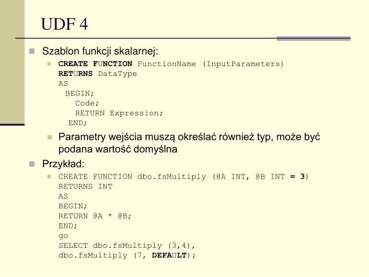 UDF 4