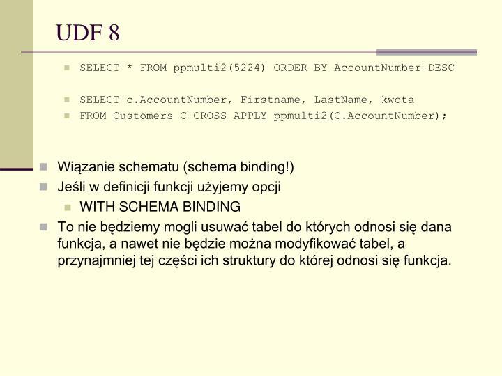 UDF 8