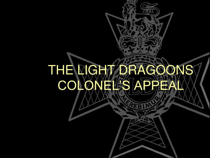 The light dragoons colonel s appeal
