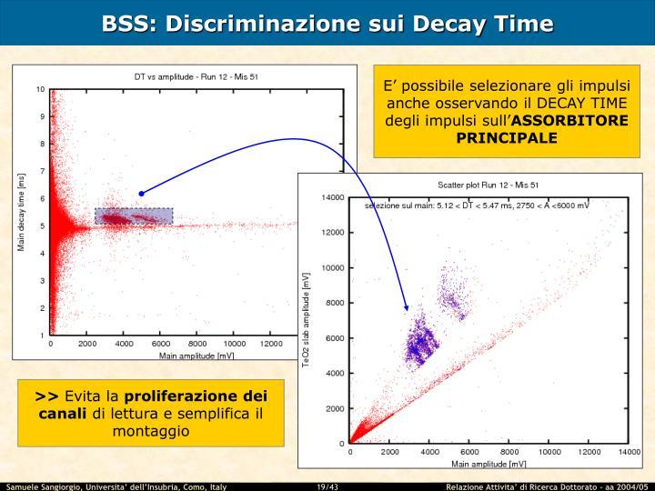 BSS: Discriminazione sui Decay Time