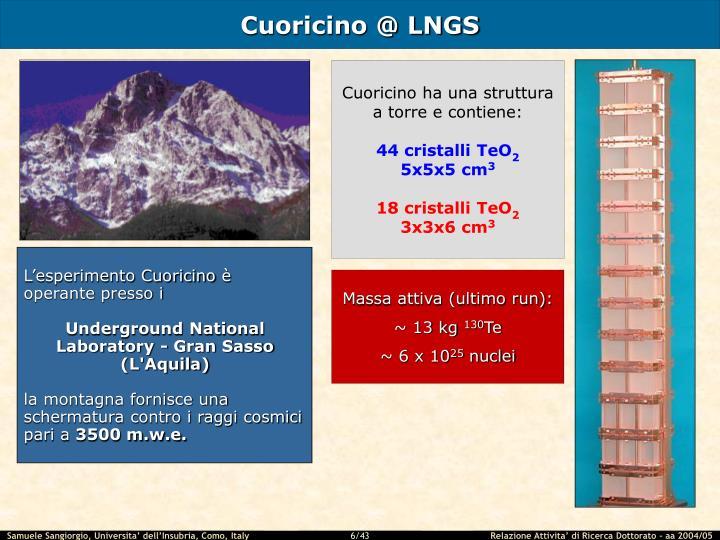 Cuoricino @ LNGS