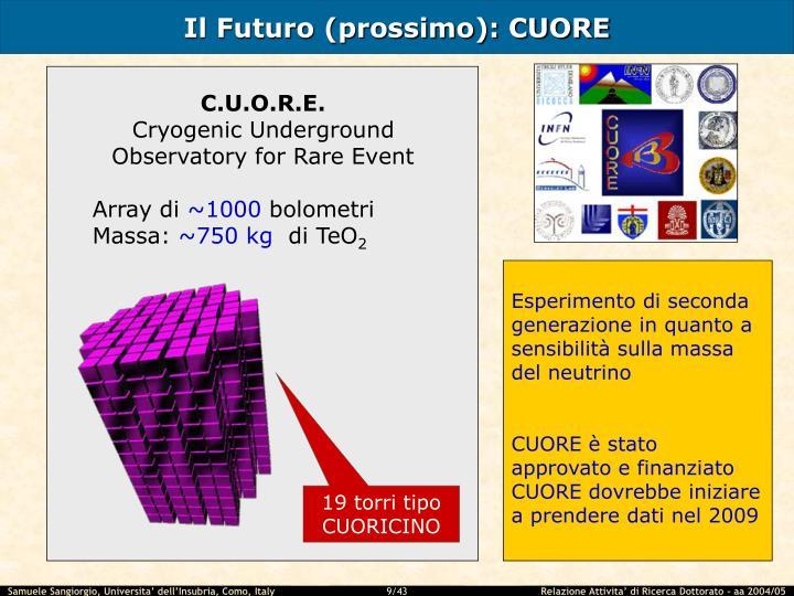 Il Futuro (prossimo): CUORE