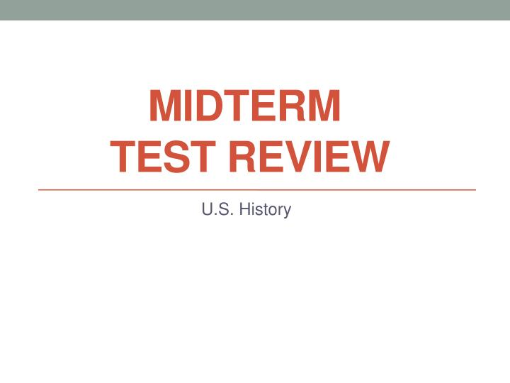 midterm test review n.