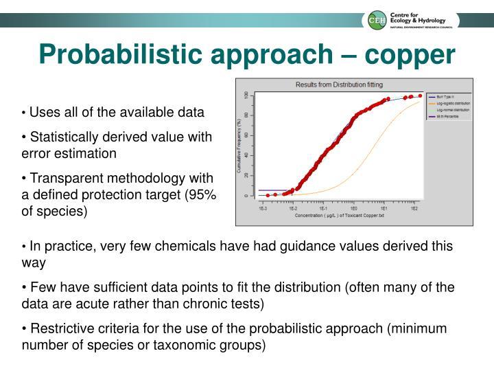 Probabilistic approach – copper
