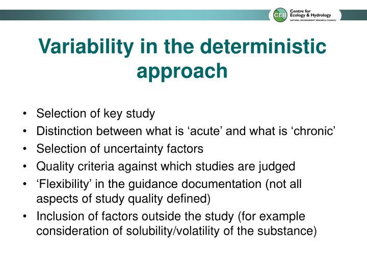Selection of key study