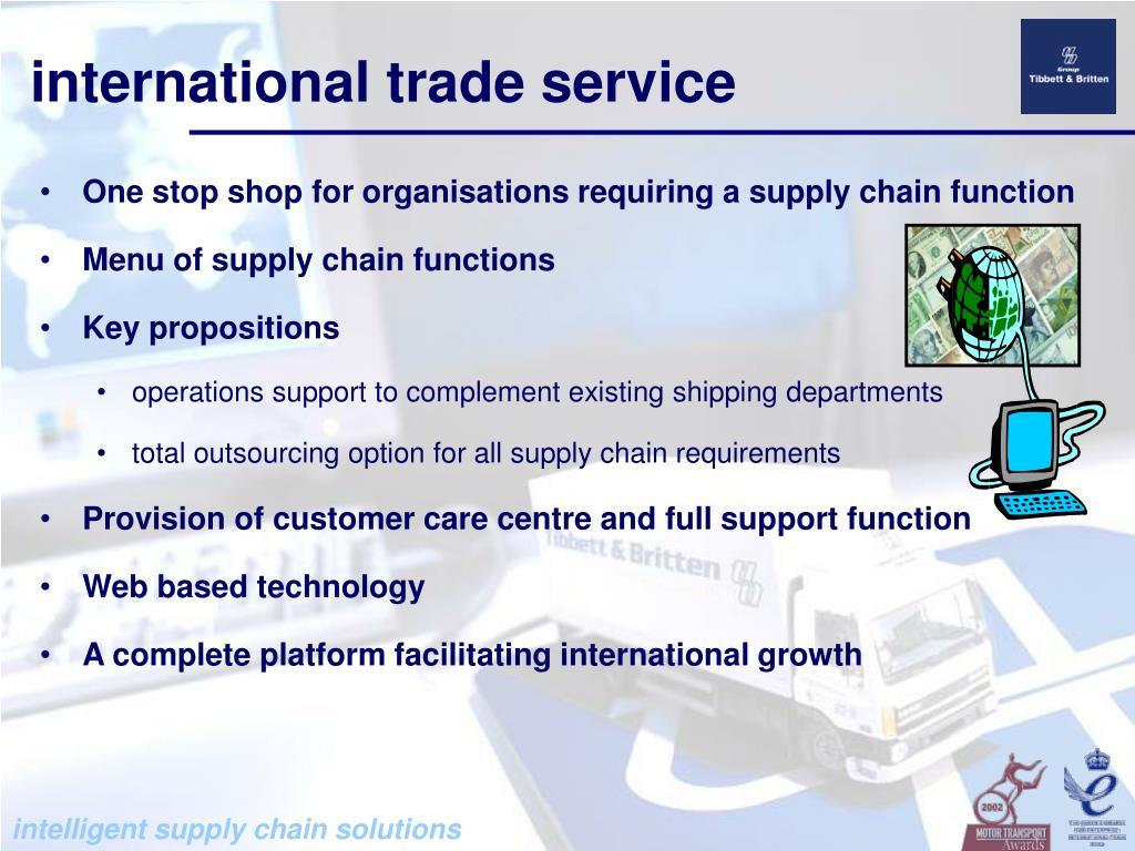 PPT - Tibbett & Britten ISC intelligent supply chain solutions