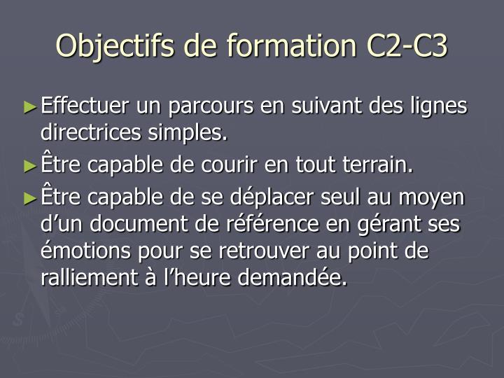 Objectifs de formation C2-C3
