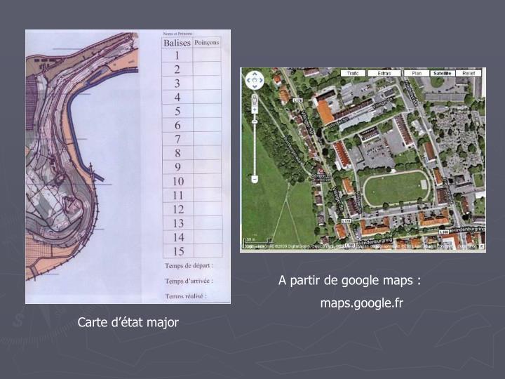 A partir de google maps :