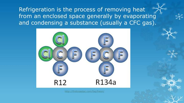 Refrigeration is the process of removing heat from an enclosed space generally by evaporating and co...
