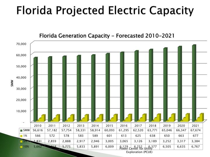 Florida Projected Electric Capacity