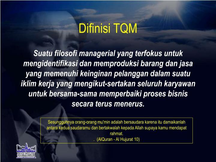 Difinisi TQM