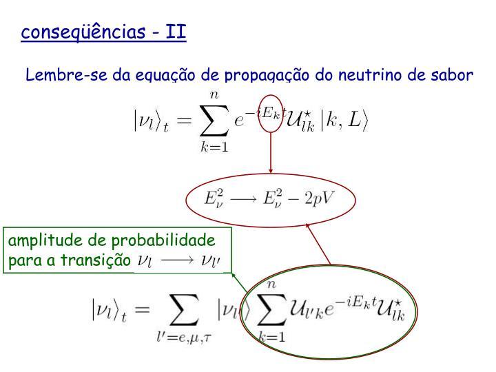 amplitude de probabilidade para a transição