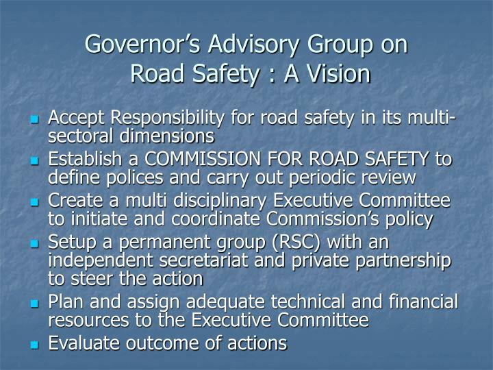 Governor's Advisory Group on