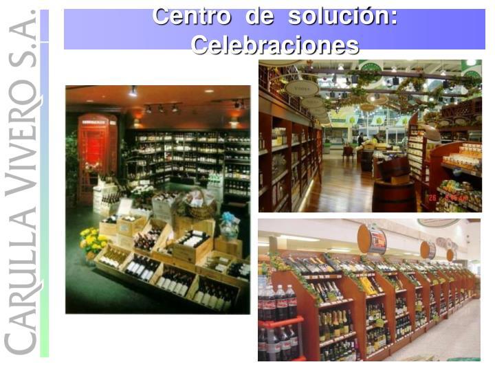 Centro  de  solución:  Celebraciones