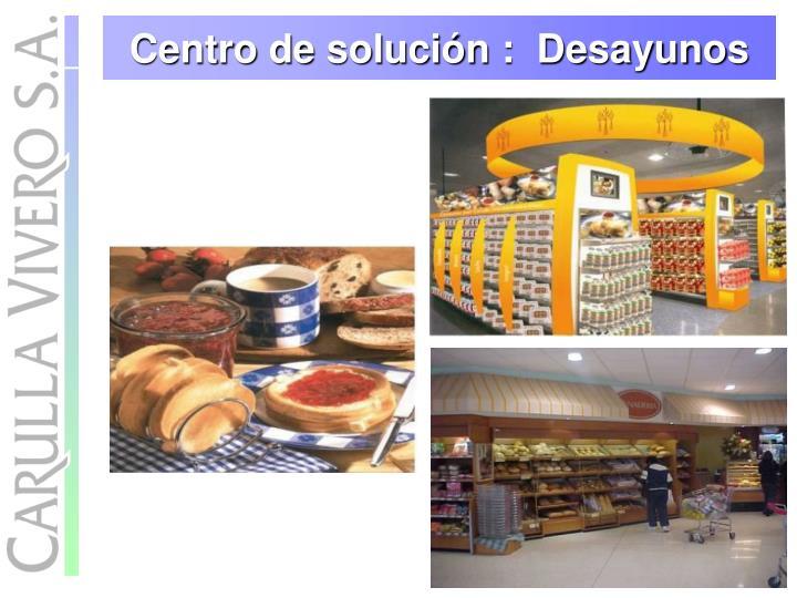 Centro de solución :  Desayunos