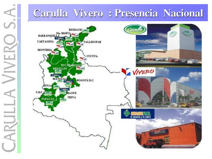 Carulla  Vivero  : Presencia  Nacional