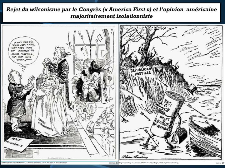 Rejet du wilsonisme par le Congrès («