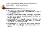 facility renewal and capital infrastructural needs october 2010 sydenham campus