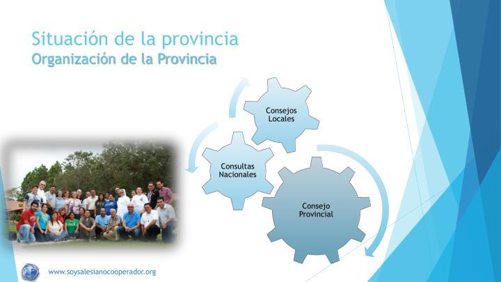 Situaci n de la provincia organizaci n de la provincia
