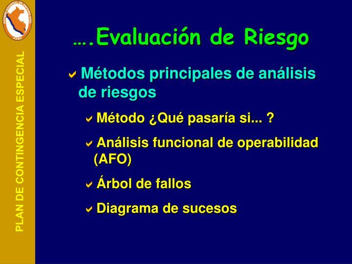 ….Evaluación de Riesgo