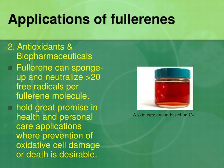 Applications of fullerenes