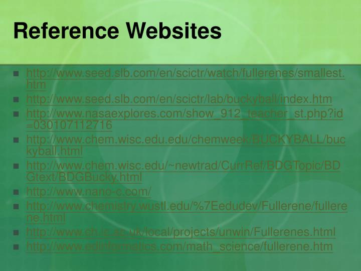 Reference Websites
