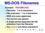 ms dos filenames
