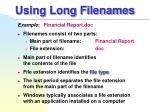 using long filenames1
