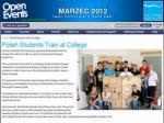 marzec 2012 fragment informacji o grupie w lokalnych mediach