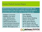 feature packed auction engine