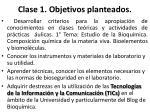 clase 1 objetivos planteados