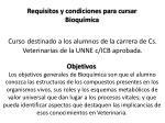 requisitos y condiciones para cursar bioqu mica