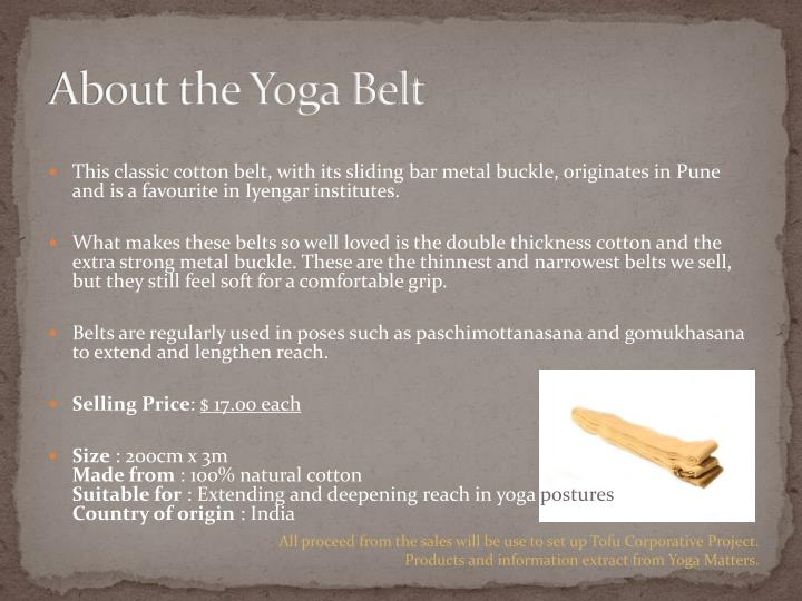 About the Yoga Belt