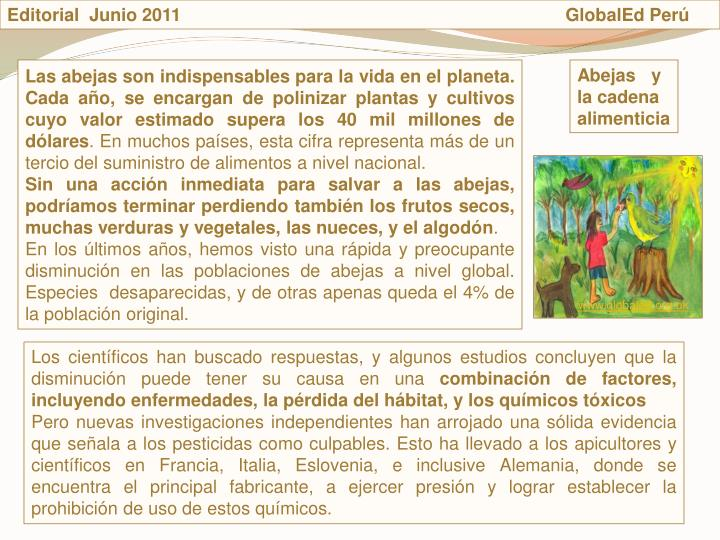Editorial  Junio 2011                                                                             GlobalEd Perú