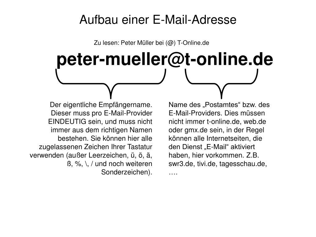 Aufbau Einer E Mail Adresse