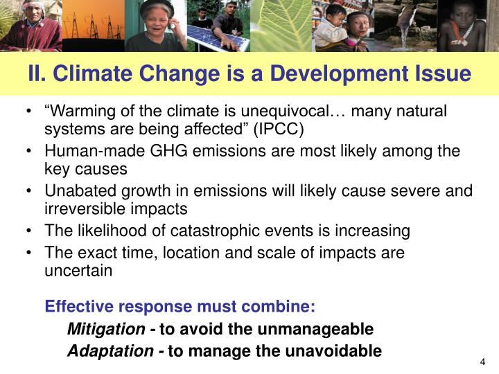 II. Climate Change is a Development Issue