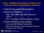 goal 3 establish the college as a leader in the state and national technological community