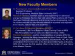 new faculty members