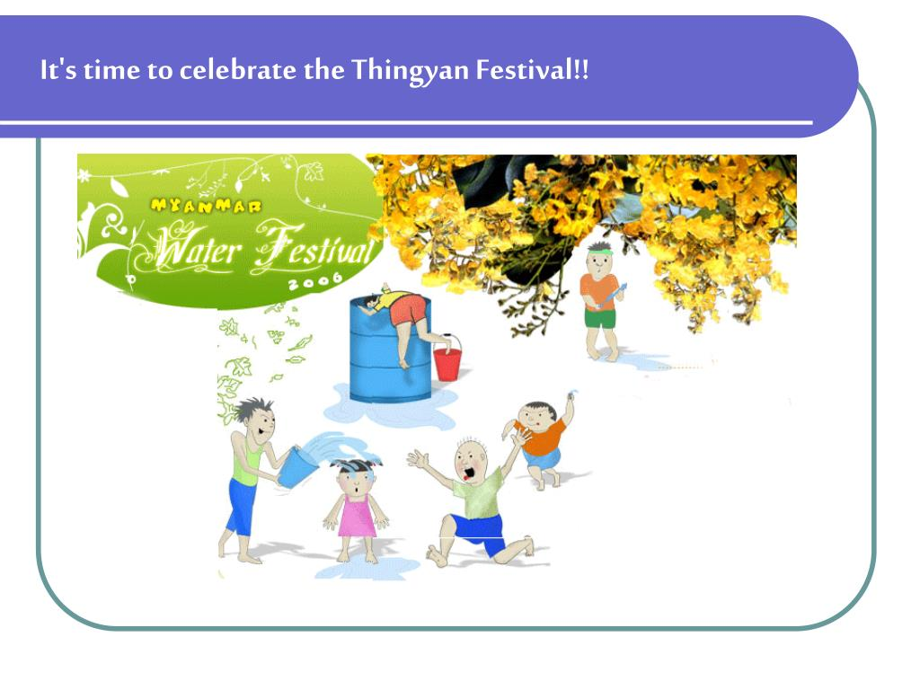 thingyan festival