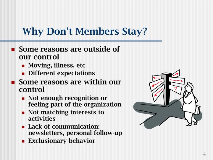 Why Don't Members Stay?