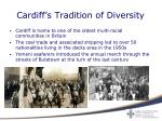 cardiff s tradition of diversity