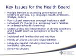 key issues for the health board