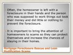 mortgage foreclosure rescue and loan modification scams1