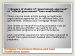 mortgage foreclosure rescue and loan modification scams5