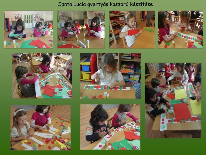 Santa Lucia gyertyás koszorú készítése